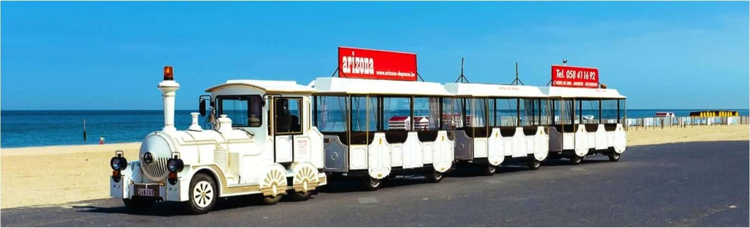 Toeristisch treintje in Nieuwpoort