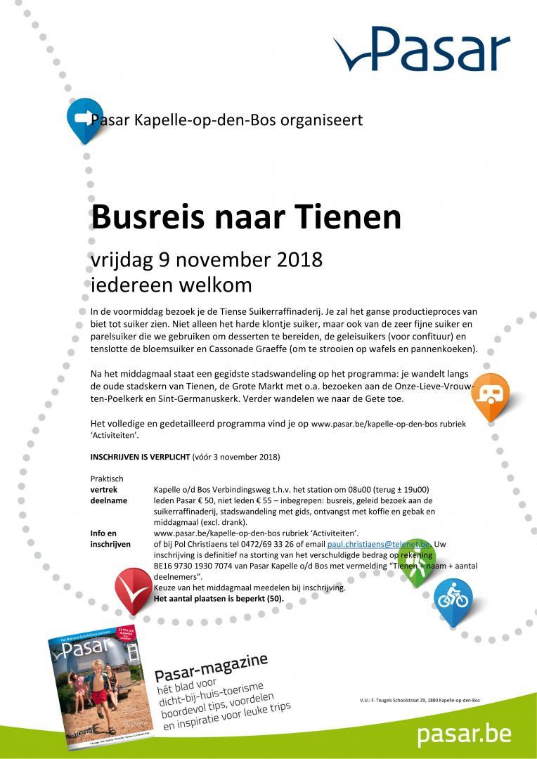 Flyer Busreis naar Tienen