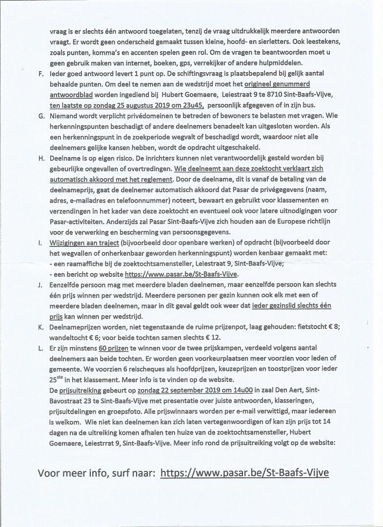 Reglement Zoektochten 2019 Blad 2