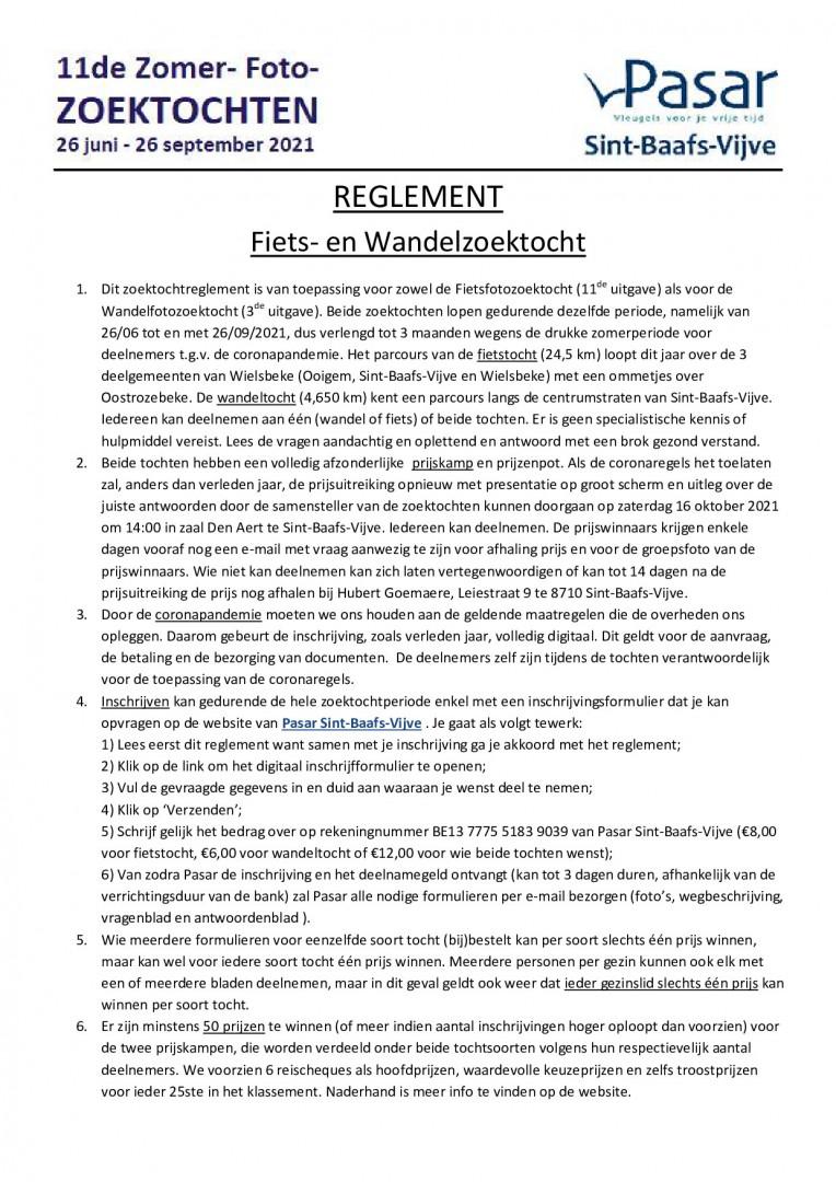 Reglement pagina 1