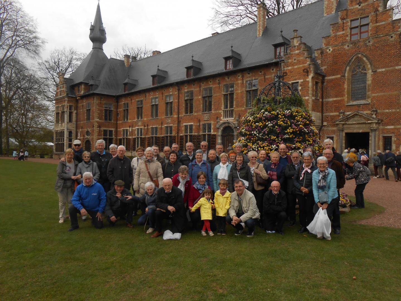 Groepsfoto bezoek aan Floralia