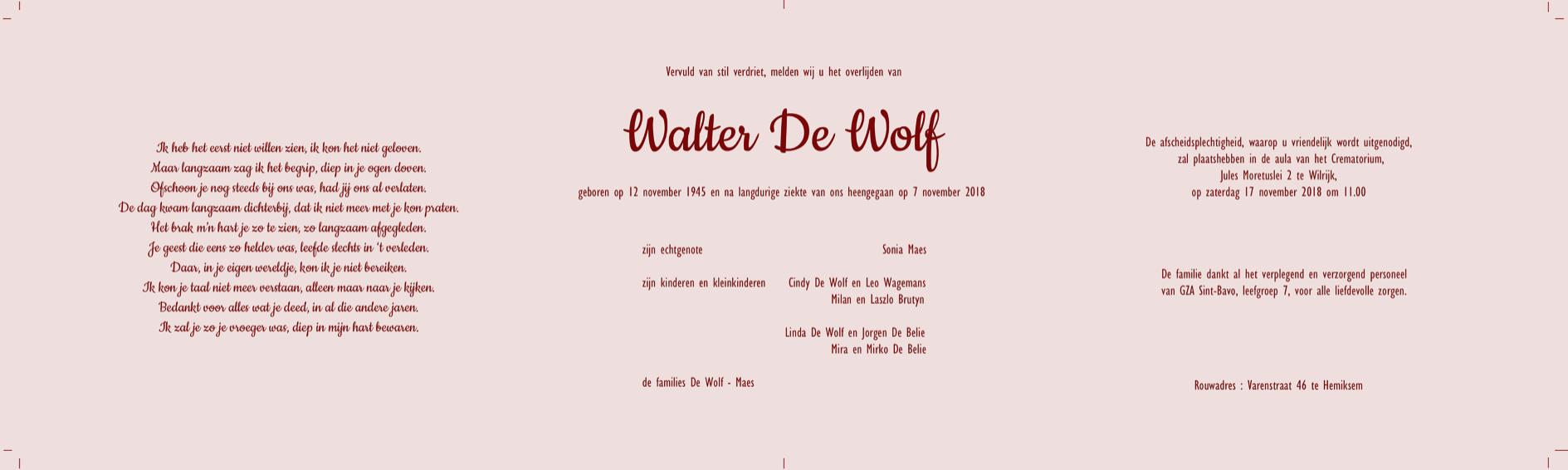 Walter De Wolf